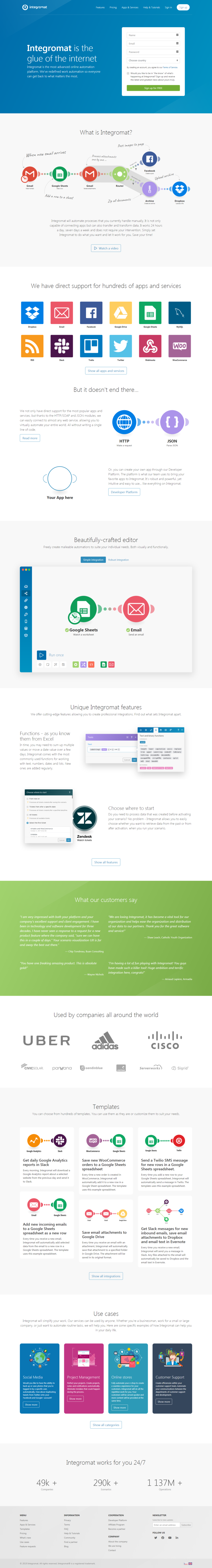 How to recreate the Integromat landing page look and feel in Ontraport
