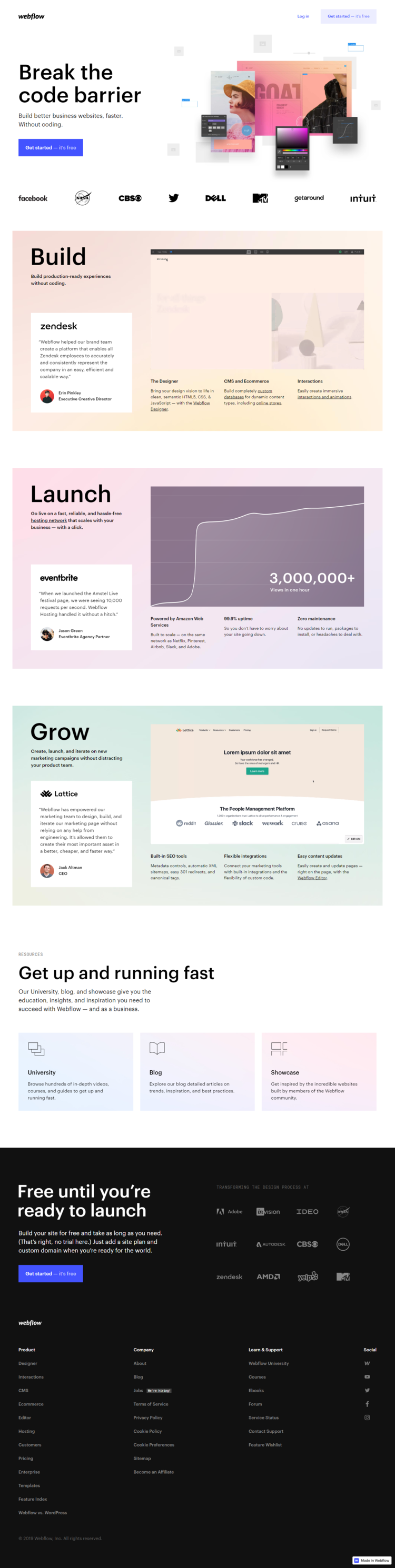 How to recreate the Webflow landing page look and feel in Ontraport