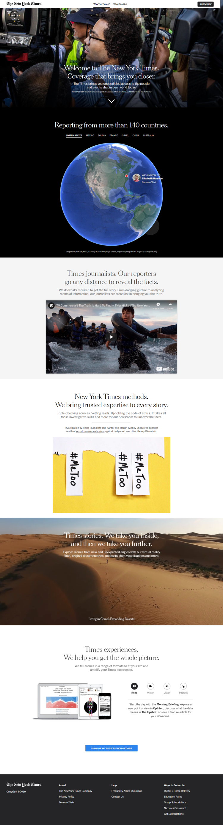 How to recreate the New York Times landing page look and feel in Ontraport