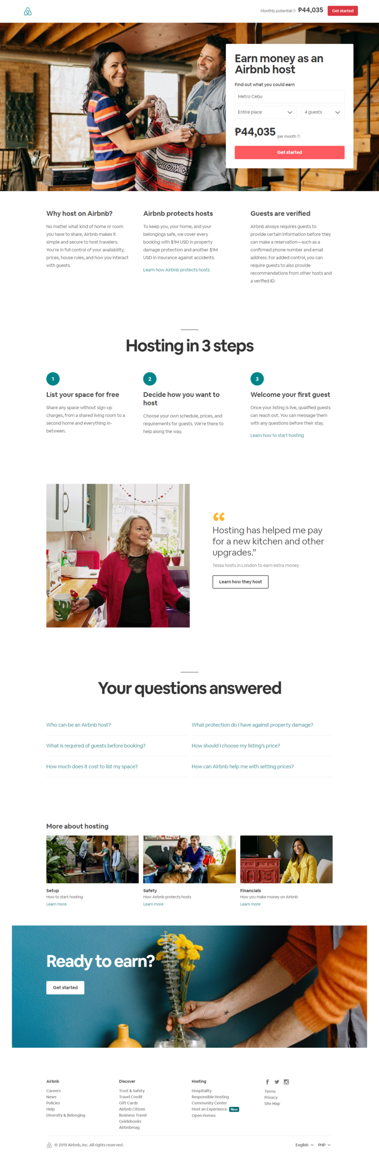 How to recreate the AirBnb landing page look and feel in Ontraport