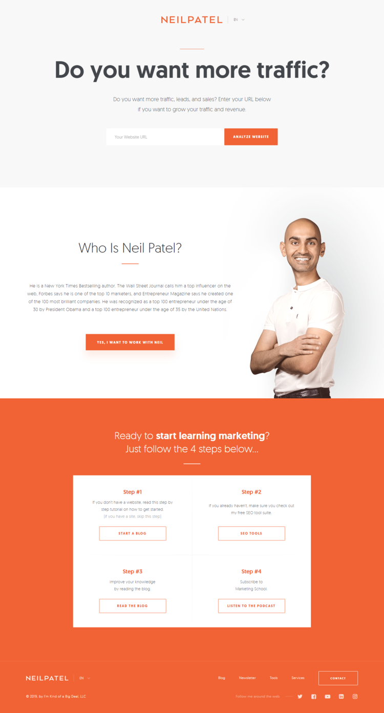 How to recreate Neil Patel's landing page look and feel in Ontraport