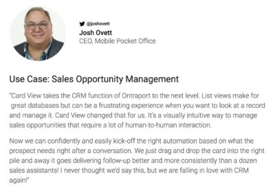 From the Experts: Creative Usecases for Ontraport's Visual CRM