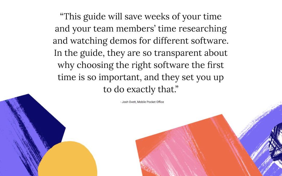 Free Guide – Take the stress out of your software search