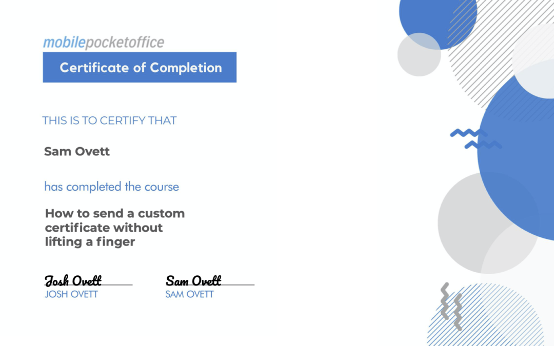 Ontraport Email PDF Certificate