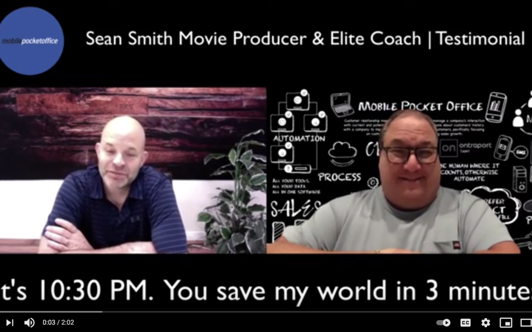 Sean Smith Movie Producer and Elite Coach Testimonial