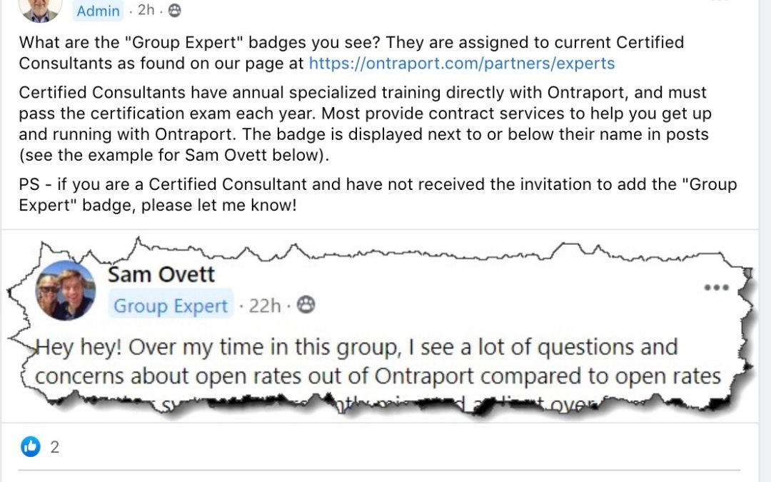 Ontraport Group Expert
